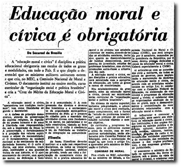 Educação Moral e Cívica em Passo Fundo