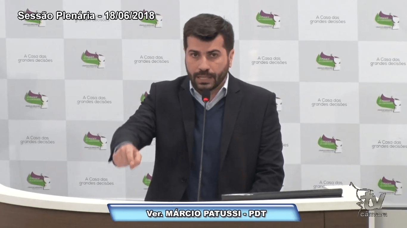 Patussi faz duras críticas ao Executivo municipal e ao Governo do Estado