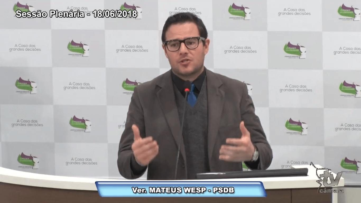 Wesp critica governo municipal na realização de eventos